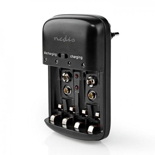 NEDIS BACH07 Φορτιστής για μπαταρίες NiCd και Ni-MH AA AAA 9V