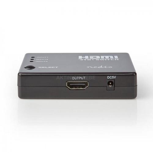 NEDIS VSWI3453BK HDMI Switch 3 θυρών