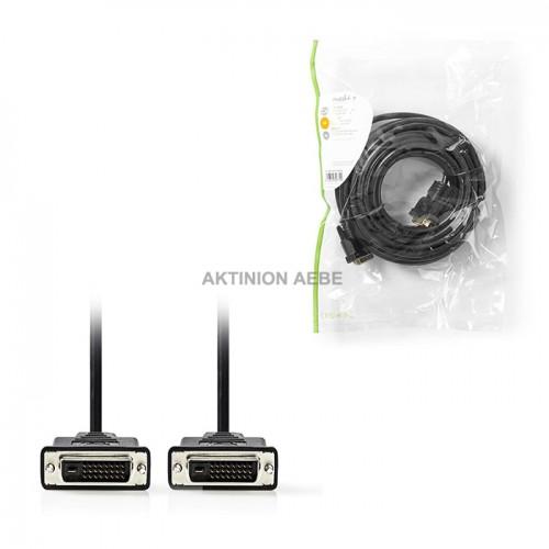 NEDIS CCGP32001BK100 Καλώδιο DVI-D Dual αρσ DVI-D Dual αρσ 10m