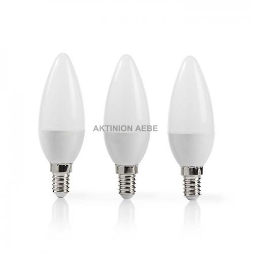NEDIS LEDBE14CAN3P2 Λάμπα LED Ε14 Candle 5.8W θερμό λευκό φως 470 lumen