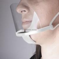 PLASTIC MULTI-PURPOSE FACE MASK WHITE Διάφανη πλαστική προστατευτική μάσκα προσώπου πολλαπλών χρήσεων