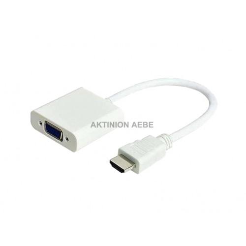 ΜΕΤΑΤΟΠΕΑΣ HDMI ΣΕ VGA CVT-125